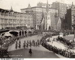 1919 Soldiers Parade on Monument Circle