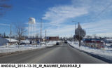 Maumee Street at Railroad Street, Angola, Indiana