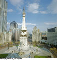 View of the East Quadrants of Monument Circle, Indianapolis, Indiana