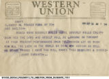 Telegram from Jimmy Durante