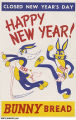 Bunny Bread New Year's Day Poster